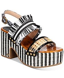 Women's Nita Raffia Wedge Sandals