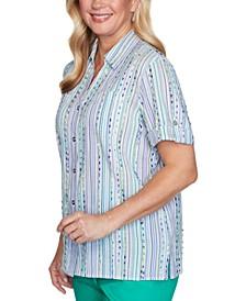 Costa Rica Eyelash-Stripe Shirt