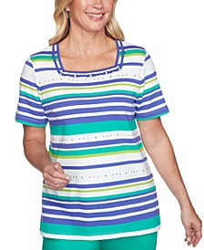 Costa Rica Striped Studded T-Shirt