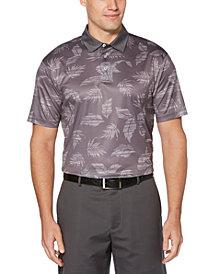PGA TOUR Men's Stretch Tropical-Print Polo Shirt