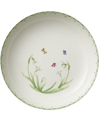 Colorful Spring Large Round Vegetable Bowl