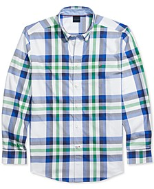 Men's Whitney Plaid Shirt with Magnetic Closures, Created for Macy's