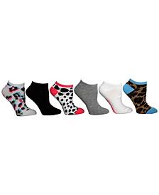 Women's 6-Pk. Animal-Patterned & Solid Low-Cut Socks