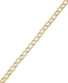 10k Gold Bracelet, Oval Link Bracelet