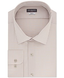Big & Tall Men's Classic-Fit Performance Stretch Check Dress Shirt