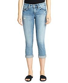 Suki Capri-Length Rolled-Cuff Jeans
