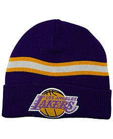 Los Angeles Lakers HWC Retro Stripe Knit Hat