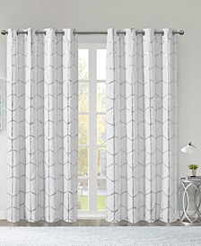 "Raina Metallic Print 50"" x 63"" Total Blackout Curtain Panel"
