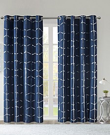 Raina Metallic Print Total Blackout Curtain Collection