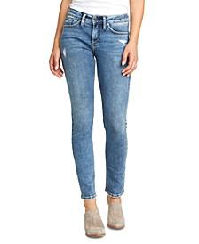 Suki Distressed Slim-Fit Jeans