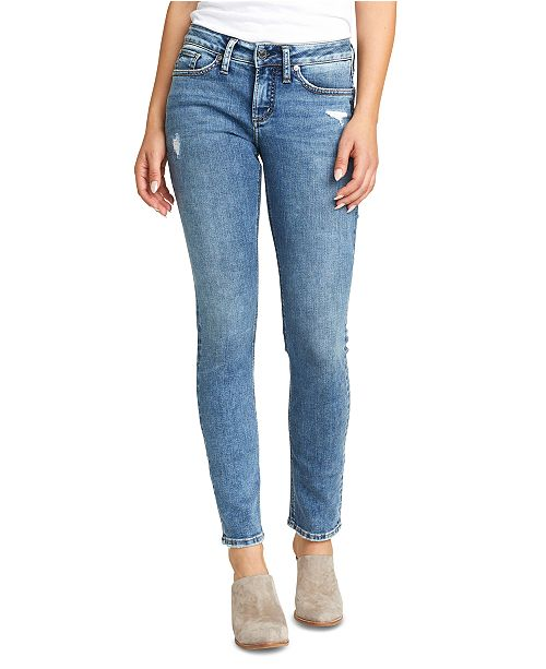 Silver Jeans Co. Suki Distressed Slim-Fit Jeans
