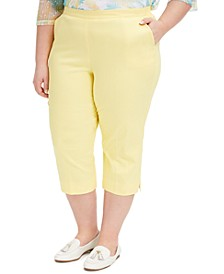 Plus Size Spring Lake Pull-On Capri Pants