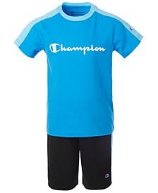 Toddler Boys 2-Pc. Colorblocked Logo T-Shirt & Shorts Set