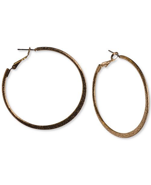 """Charter Club Gold-Tone Large Hoop Earrings, 2.12"""", Created for Macy's"""