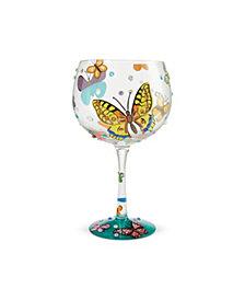Enesco LOLITA Butterflies Coupe Glass