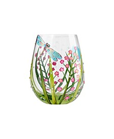 LOLITA Dragonfly Stemless Wine Glass