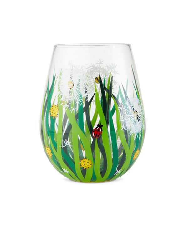 Enesco LOLITA Dandelion Stemless Wine Glass
