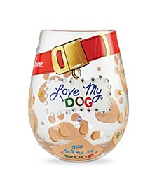 LOLITA Love My Dog Stemless Wine Glass