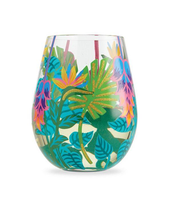 Enesco LOLITA Tropical Vibes Stemless Wine Glass
