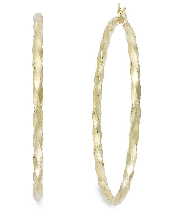 Macy's - Twist Hoop Earrings in 14k Gold Vermeil