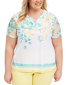 Plus Size Spring Lake Printed Top