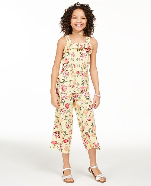 Charter Club Big Girls Mommy & Me Floral-Print Jumpsuit, Created for Macy's
