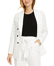 Windowpane Double-Breasted Jacket, Created for Macy's