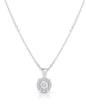 Diamond Halo Pendant (3/4 ct. t.w.) 18
