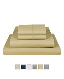 The Village 500 Thread Count Cotton King Sheet 4-Piece Set, Fits Mattress Upto 17""