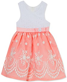 Toddler Girls Embroidered Organza Dress