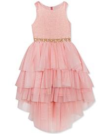 Little Girls Tiered High-Low Dress