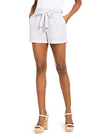 Linen & Cotton Tie-Waist Shorts, Regular & Petite Sizes