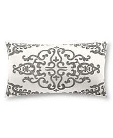"Classic Embossed Jacquard 12"" x 22"" Decorative Pillow"