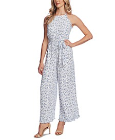 Printed Halter Ruffled Jumpsuit