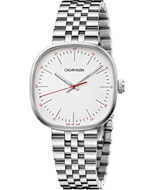Men's Squarely Stainless Steel Bracelet Watch 38mm