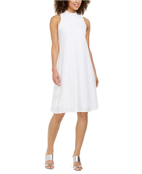 Calvin Klein Petite Bow-Neck A-Line Dress