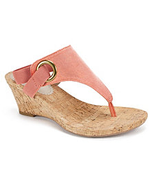 White Mountain Women's Aida Cork Wedge Sandals