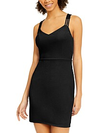 Juniors' Triple-Strap Bodycon Dress