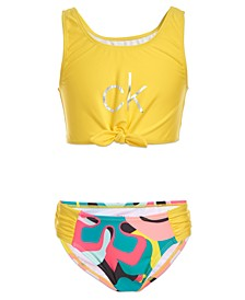 Big Girls 2-Pc. Foil-Print Tankini
