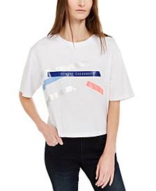 Logo-Print Cropped Cotton T-Shirt