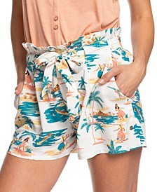 Juniors' The South Side Printed Shorts
