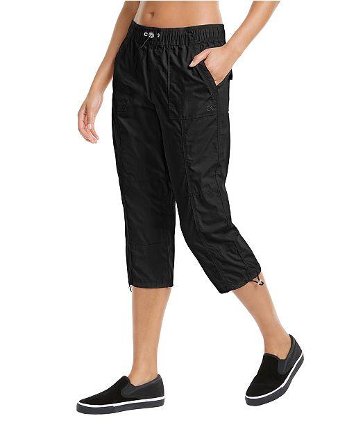 Calvin Klein Printed Smocked Waistband Cargo Pants