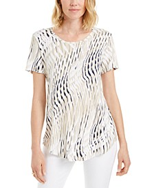 Plus Size Printed Short-Sleeve T-Shirt, Created for Macy's