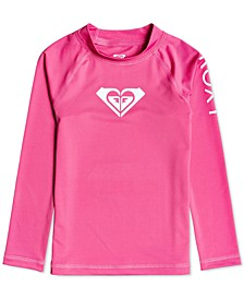 Toddler & Little Girls Whole Hearted Long Sleeve Rash Guard