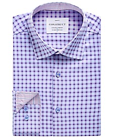 Men's Slim-Fit Dobby Check Performance Stretch Cooling Comfort Dress Shirt