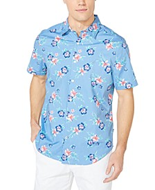 Men's Blue Sail Floral-Print Shirt, Created for Macy's