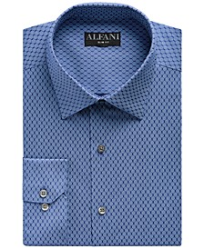 Men's Big & Tall Classic/Regular Fit Performance Stretch Honeycomb Dot Print Dress Shirt, Created for Macy's