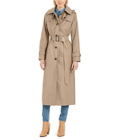 Hooded Water-Repellent Trench Coat, Created for Macy's