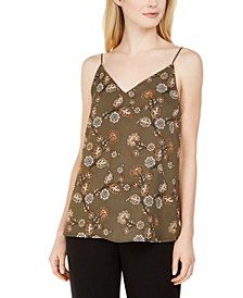 Printed Strappy Cami Top