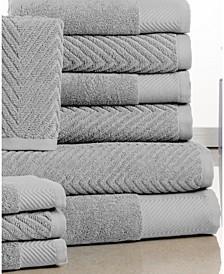 Jacquard Soft Spa Quality Towel Set - 10 Piece